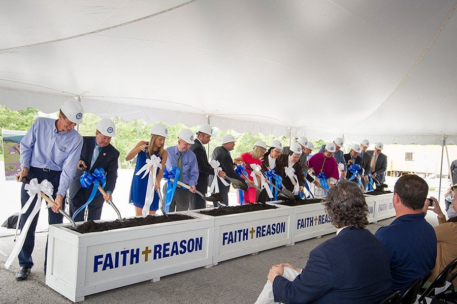 Dignitaries turn ground to launch projects (Photo//University of University of Saint Francis)