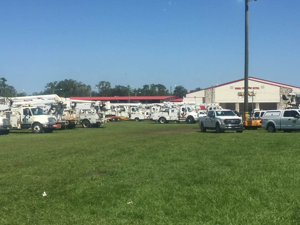 I&M crews are staging near Tampa to help restore power after Hurricane Irma