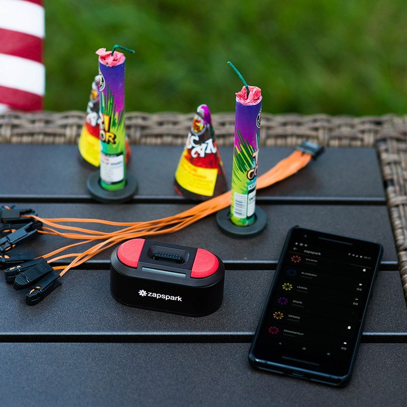 ZapSpark, a device created by a Purdue University professor, allows anyone to set off fireworks from a safe distance. (Photo//Purdue Research Foundation/ Mithuna Thottethodi)